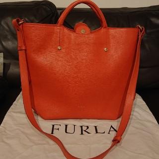 Furla - FURLA フルラ ほぼ 新品 2way バッグ サーモンピンク