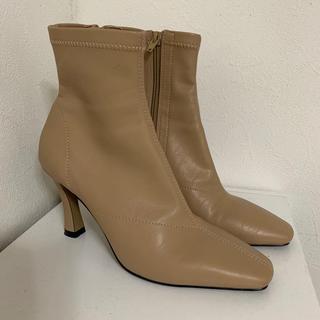 スナイデル(snidel)のSNIDEL エコレザーショートブーツ(ブーツ)