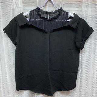 アベイル(Avail)のアベイル ブラック シャツ トップス (シャツ/ブラウス(半袖/袖なし))