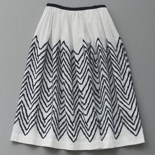 ミナペルホネン(mina perhonen)のミナペルホネン knoll スカート 36(ひざ丈スカート)