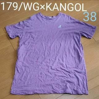 カンゴール(KANGOL)の179/WG KANGOL Tシャツワンピース 38 パープル(Tシャツ(半袖/袖なし))