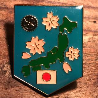 ロータリーグループ(ROTARY GROUP)の* ロータリークラブ 桜 日本列島 エンブレム ピンバッジ PINS ✳︎(ブローチ/コサージュ)