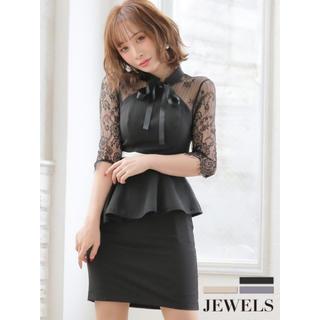 ジュエルズ(JEWELS)のキャバドレス ブラック(ナイトドレス)