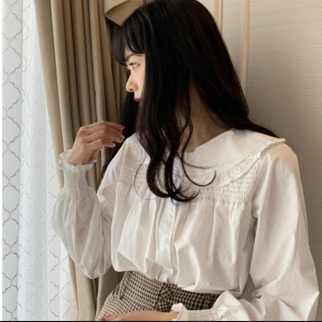 Lily Brown(リリーブラウン)の【新品未使用♡】 Miro bibiy. 丸襟ギャザーブラウス レディースのトップス(シャツ/ブラウス(長袖/七分))の商品写真