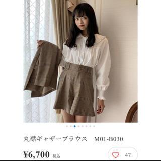 Lily Brown - 【新品未使用♡】 Miro bibiy. 丸襟ギャザーブラウス