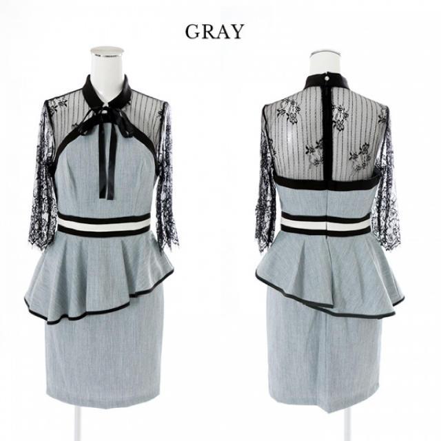 JEWELS(ジュエルズ)のキャバドレス グレー レディースのフォーマル/ドレス(ナイトドレス)の商品写真