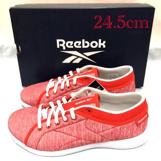 リーボック(Reebok)の未使用 リーボック ウォーキングシューズ 赤 レディース 24.5cm(スニーカー)