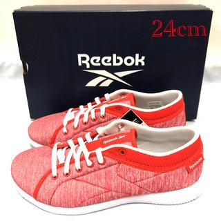 リーボック(Reebok)の未使用 リーボック ウォーキングシューズ 赤 レディース 24cm Reebok(スニーカー)