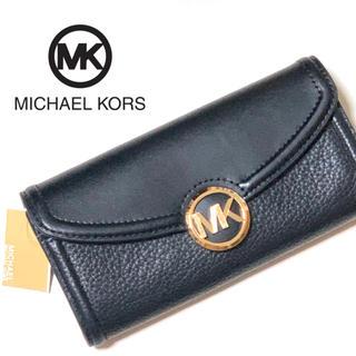 Michael Kors - 【新品 未使用】 マイケルコース 長財布 ブラック MKロゴ