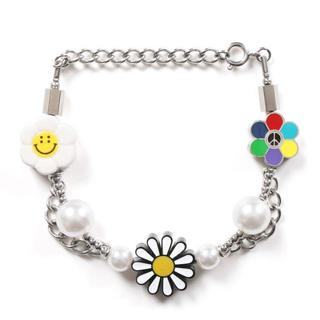 Supreme - SALUTE FLOWER ANARCHY BRACELET