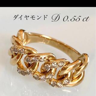 天然ダイヤモンド ゴールド チェーンリング (リング(指輪))