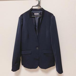 HONEYS - 【美品】紺色ノーカラー テーラードジャケット Lサイズ
