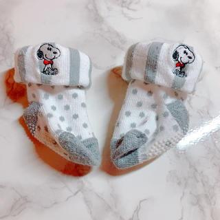 スヌーピー(SNOOPY)の【大人気!】スヌーピー ベビー 靴下(靴下/タイツ)
