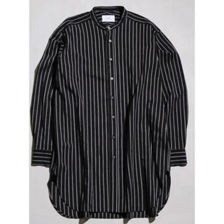MB ロングストライプシャツ ブラック s