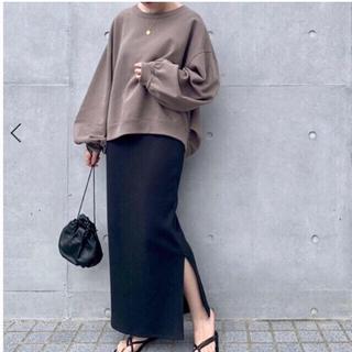 IENA - IENA テレコリブスカート ノーブル トタンテレコタイトスカート