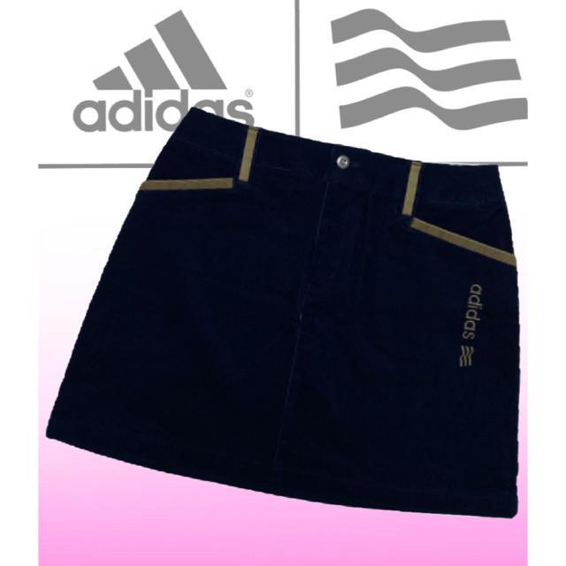 adidas(アディダス)の美品♡アディダスゴルフ  コーデュロイ  ゴルフスカート  レディース  秋冬 スポーツ/アウトドアのゴルフ(ウエア)の商品写真