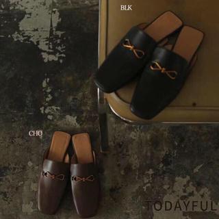 トゥデイフル(TODAYFUL)のTODAYFUL 20秋 シューズ Leather Slide Loafers(ローファー/革靴)