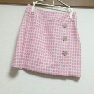 ミシェルマカロン(michellMacaron)のミシェルマカロン  ツイードピンク ミニスカ お姫様 お嬢様 上品 スカート(ミニスカート)