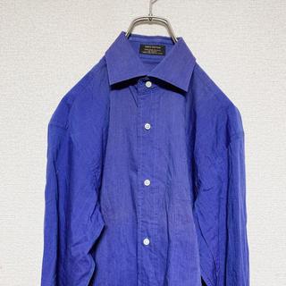 ハレ(HARE)のセール品 90s  コットンシャツ 紺色 アメリカ古着 USA 韓国古着(シャツ)