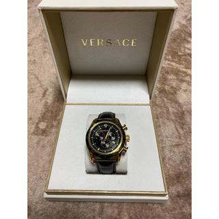 ヴェルサーチ(VERSACE)のVERSACE 腕時計 レア 黒金 (腕時計(アナログ))