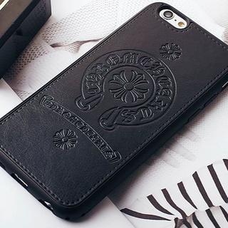 Iphone 6/6S スマホケース  人気のホースシュー&クロス 黒