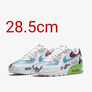 NIKE - 28.5cm NIKE FLYLEATHER AIR MAX 90 QS ナイキ
