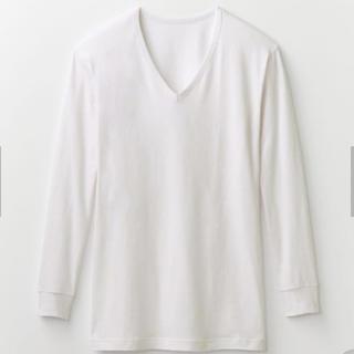 ベルメゾン(ベルメゾン)の【未使用】ベルメゾン Hot Cott  インナー Vネック 長袖 オフホワイト(Tシャツ/カットソー(七分/長袖))