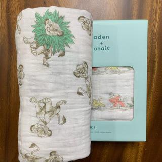 aden+anais - ✨再入荷‼️大人気柄ライオンキング エイデンアンドアネイおくるみ新品【緑】