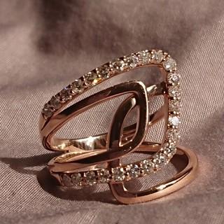 K18ピンクゴールドダイヤリング