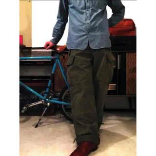 HYKE - 貴重 60s ビンテージ ドイツ軍 メルトン ウール ワイド カーゴ パンツ