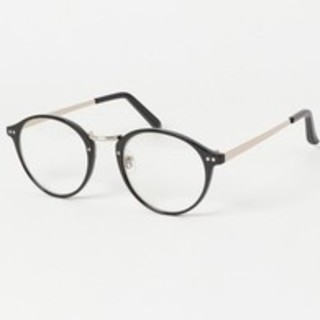 SM2 - サマンサモスモス だて眼鏡 ボストン ブラック