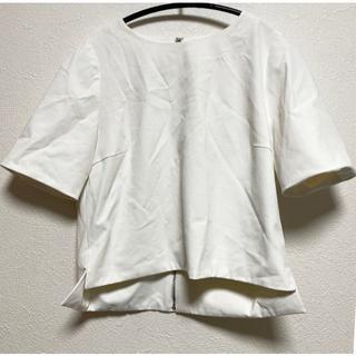 ユナイテッドアローズ(UNITED ARROWS)のREKISAMI ホワイト カットソー(カットソー(半袖/袖なし))