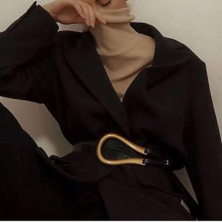 アメリヴィンテージ(Ameri VINTAGE)のカラバリあり 10月上旬発送 アメリヴィンテージ風 ベルト ブラック×ゴールド(ベルト)
