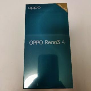 ANDROID - 【新品未開封】OPPO Reno3A black 国内版SIMフリー