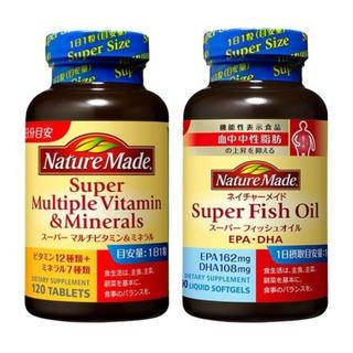 オオツカセイヤク(大塚製薬)のネイチャーメイド スーパーマルチビタミン&スーパーフィッシュオイル(ビタミン)