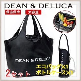DEAN&DELUCA ディーン& デリカ エコバッグ ボトルポーチ 黒  保冷