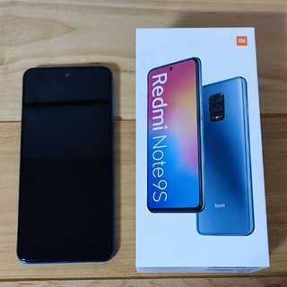ANDROID - 【美品】Redmi Note 9S オーロラブルー
