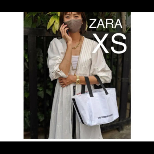 ZARA(ザラ)の【新品・未使用】ZARA 刺繍 チュニック ワンピース  XS レディースのワンピース(ロングワンピース/マキシワンピース)の商品写真