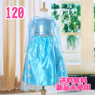 アナと雪の女王 - 【サイズ120】エルサ 風ドレス+ブローチ付