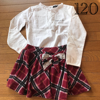 コムサイズム(COMME CA ISM)のCOMME CA ISM トップス&ノーブランド オーバーパンツ付きスカート(Tシャツ/カットソー)