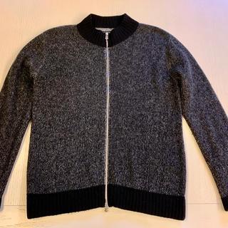 クロムハーツ(Chrome Hearts)のクロムハーツ ダガーダブルジップ カシミヤ&レザー ニット ジャケット セーター(ニット/セーター)