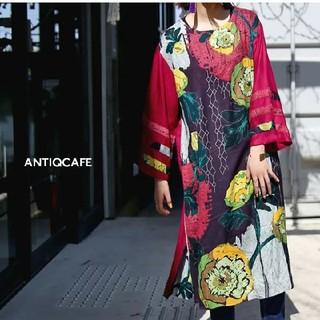 アンティカ(antiqua)のアンティカフェ 花柄ワンピース(ロングワンピース/マキシワンピース)