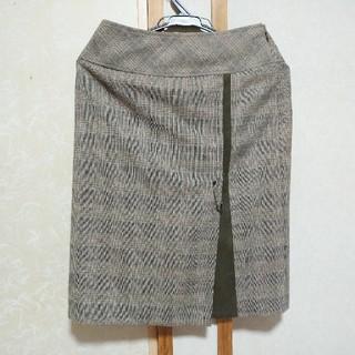 ニジュウサンク(23区)の23区 チェック柄スカート(ひざ丈スカート)