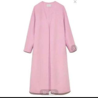 ジャスグリッティー(JUSGLITTY)のセルフォード♡コート♡カラーリバーコート♡ピンク♡CELFORD(ロングコート)