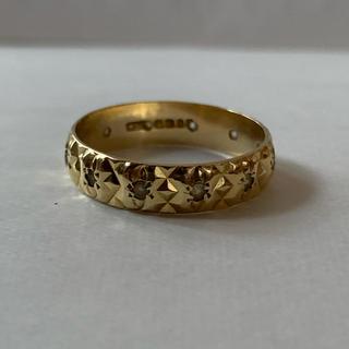 英国 18k 18金 ジプシーリング(リング(指輪))