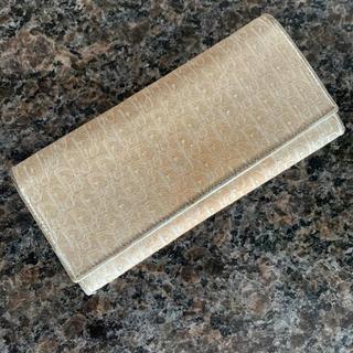 クリスチャンディオール(Christian Dior)のディオール  ゴールド 長財布(財布)