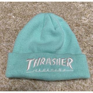 スラッシャー(THRASHER)のTHRASHER ニット帽 ニットキャップ ビーニー 水色(ニット帽/ビーニー)