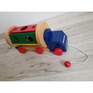 ミキハウス(mikihouse)のmiki house  木製パズルミキサーカー(知育玩具)