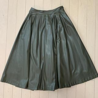 GRACE CONTINENTAL - グレースコンチネンタル レザースカート  34