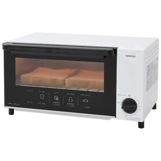 山善 - 【格安】大人気 オーブントースター タイマー付き ホワイトYTN-S100(W)